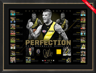 Dustin Dusty Martin Ltd Ed Afl Approved Perfection 2017 Brownlow Medallist