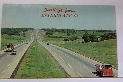 Greetings From Interstate 80, Nebraska, Unposted Pc 29830-C