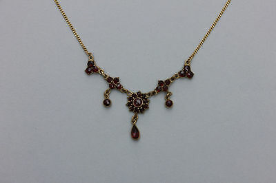 Altes Granat-Collier  Gold 333 - 8 Karat