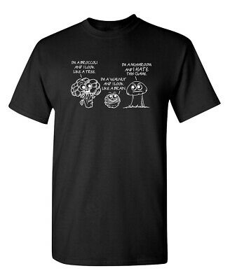 Mushroom Hate Offensive Sarcastic Humor Graphic Gift Cool Funny Novelty T-shirts