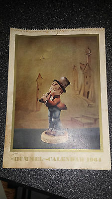 Antique Vintage  HUMMEL German Figurine   WALL CALENDAR from 1964  Complete Rare