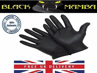 Genuine Black Mamba Super Strong Heavy Duty Nitrile Gloves 5 Pairs Size XL