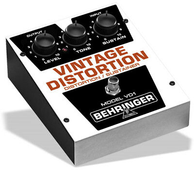 Behringer VD1 - Authentic Vintage-Style Distortion/Sustainer - NEW!