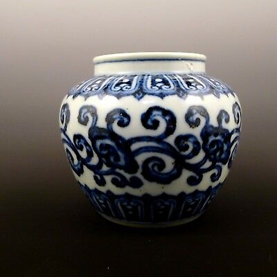 Chinese  Xuande blue and white Can Pot 青花罐