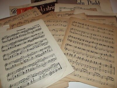 Vintage Music Sheets for Paper Crafts - 50 sheets - various sizes, weddings Xmas