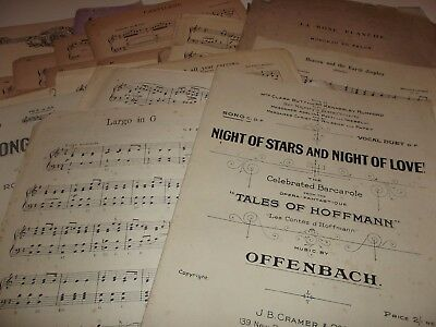 50 Vintage Music Sheets for Crafting - Weddings, Christmas - Various Sizes