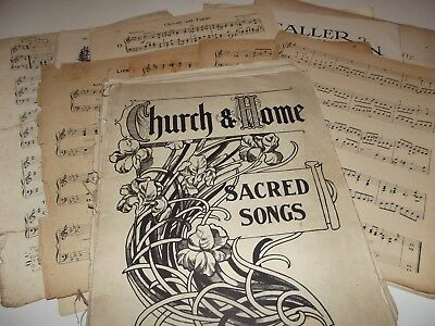 50+ Vintage Music Sheets for Crafting - Wedding, Christmas etc., Various Sizes