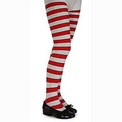 Red and White Striped Tights (Girl's Children's Dancewear)