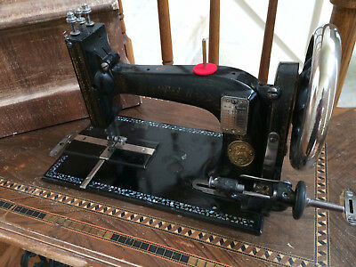 **WORKING 1894 OPEL B SEWING MACHINE w/MOTHER OF PEARL INLAY ~ SEWS GREAT!