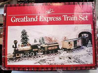 Greatland Holiday Express Train Set used, in original box. Tested. Works 100%