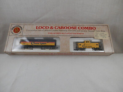 BACHMAN Loco & Caboose Combp Chessie System railroad cars N scale