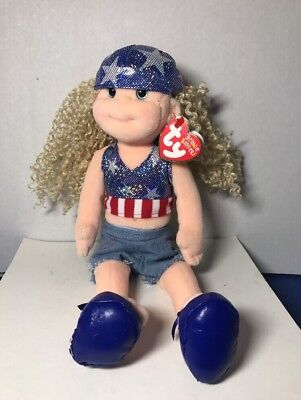 Star Spangled Suzy Ty Beanie Boppers With Tags