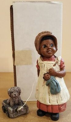 All God's Children Figurine Black Americana Holcombe Bonnie with box