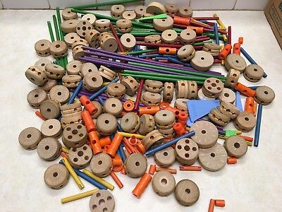 309 Pieces of Vintage Tinker Toys
