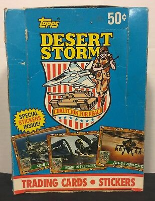 Desert Storm Trading Cards 36 packs with box