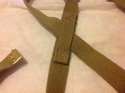 37 pattern pair cross shoulder straps army issue khaki