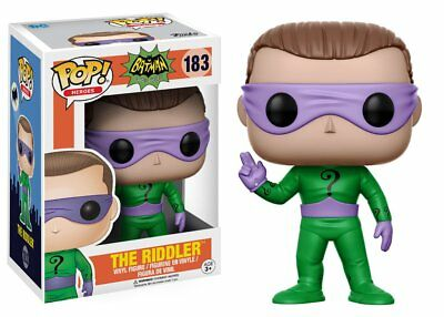 The Riddler Batman 1966 Tv Show Pop Heroes Vinyl Figure Funko New #183 Vaulted