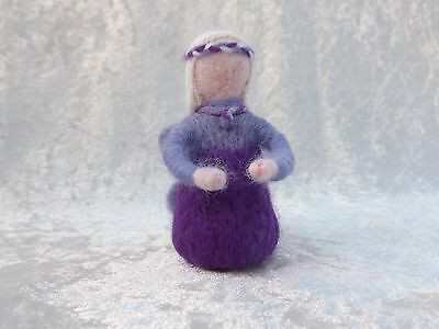 Beautiful Handmade Purple NEEDLE FELTED Fairy Needle felting fairies