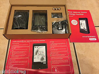 BRAND NEW BLACK NPOWER HUMM ENERGY Electricity Electric Meter Monitor