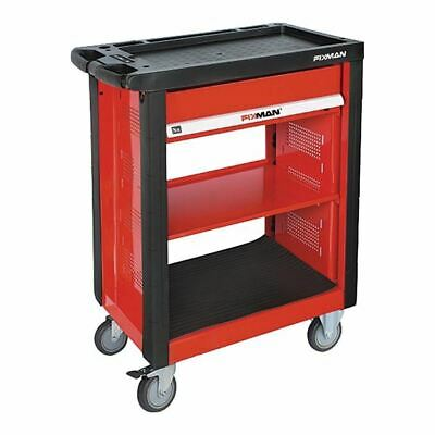 "Fixman F1RP1 30""W Tool Cart-2 Fixed Wheels & 2 Casters 1 Brake"
