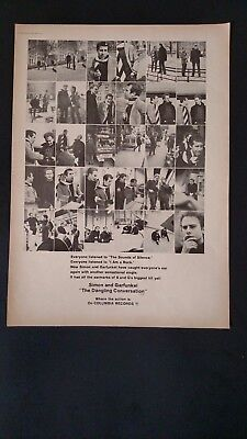 "SIMON & GARFUNKEL ""The Dangling Conversation"" 1966 Original Promo Poster Ad"