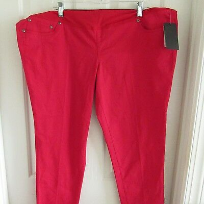 BACCINI Women's Crimson Red Colored Maternity Cotton Blend Jeggings Size 2X NWT