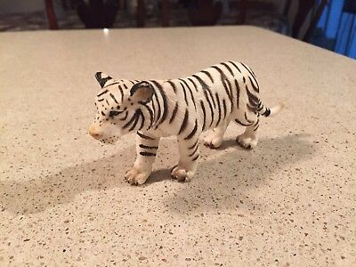 Ultra Realistic Toy Animal Figure: White Tiger