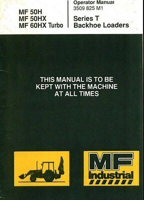 MF 50H 50HX 60HX Turbo Operator Manual & Wiring pdf on CD & More