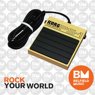 Korg PS-1 Sustain Pedal Single Footswitch for Keyboard & Piano PS1 Foot Switch
