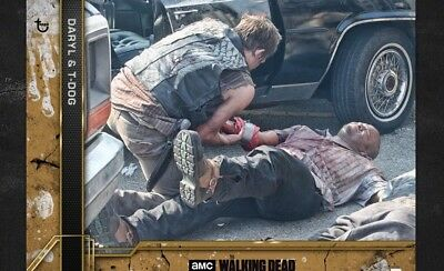COME WHAT MAY COPPER WAVE 3 DARYL & T-DOG Walking Dead Card Trader Digital