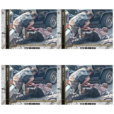 4x COME WHAT MAY CONCRETE WAVE 3 DARYL & T-DOG Walking Dead Card Trader Digital