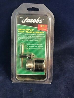 "Jacobs 3/8"" 10Mm 3/8-24 Mount Multi-Craft Drill Chuck 30247"