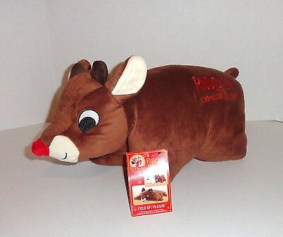 New Rudolph The Red Nosed Reindeer Pillow Pet Plush Pal 50th Anniversary C13