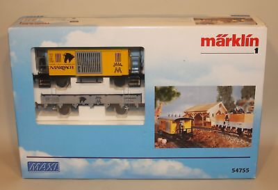 Marklin Hungary 1 Gauge Train Maxi Marbach Horse Transport Car 54755 New in Box
