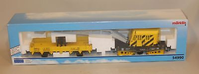 Marklin Hungary 1 Gauge Train Maxi Yellow Crane & Work Car 54990 New in Box
