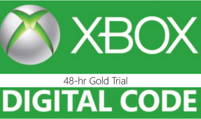 48 hour Xbox One 360 Live Gold Trial Membership Digital Code Fast Email Delivery