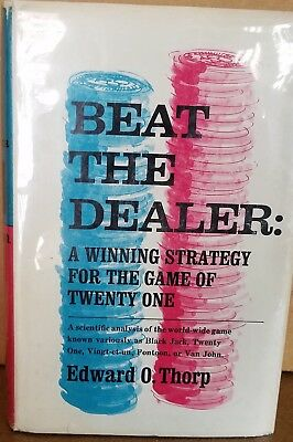 """Collectible """"Beat The Dealer"""" by By Edward O. Thorp"""