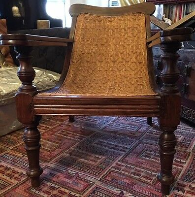 Rare 19th Century Anglo-Indian Planters Boot Chair Plantation Chair