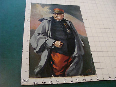 VINTAGE PRINT: 1917 textured print of ENGLISH GENERAL by CARL LOTAVE some wear
