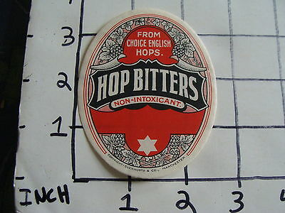 Vintage Early Label: HOP BITTERS non-intoxicant manchester