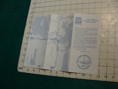 Vintage High Grade Brochure: WOLFEBORO CHAMBER OF COMMERCE MAP-directory 1978