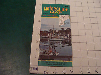 vintage Paper item: MOTORGUIDE MAP New England edition 1971 NEVER OPENED