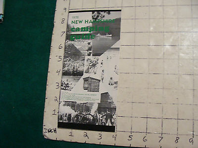 Vintage High Grade brochure: 1975 NEW HAMPSHIRE CAMPING GUIDE, 32pages