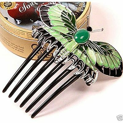 US Titanic Heroine Rose Dress Nice Butterfly Comb Replica Hairpin Womens Jewelry