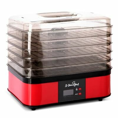 5 Tray Food Dehydrator – Red