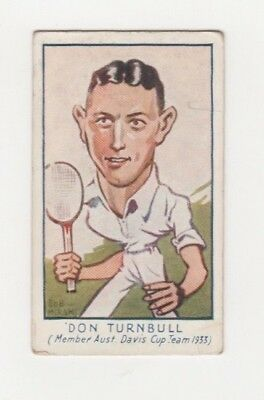 Australian Tennis Cigarette Card - Don Turnbull