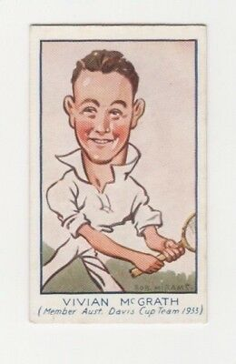 Australian Tennis Cigarette Card - Vivian McGrath