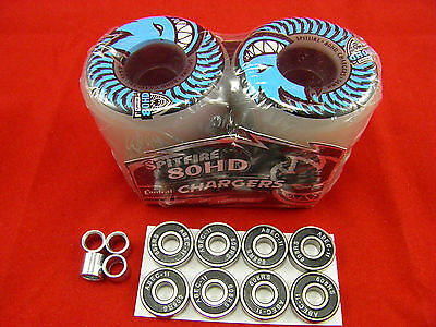 4 x SPITFIRE 56mm/80HD CLASSIC CHARGERS -SKATEBOARD WHEELS+ ABEC 11'S