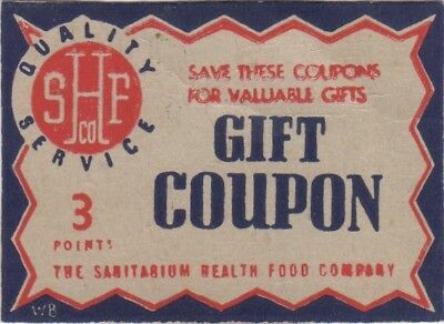 Sanitarium - Gift Coupon 3 - White