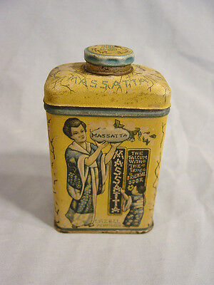 Lazell Perfumer  Massatta Talcum Powder Tin  Established in 1839
